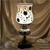 Glass Decorative Pedestal Table Lamp