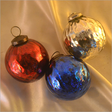 Colorul Glass Christmas Ball Ornament