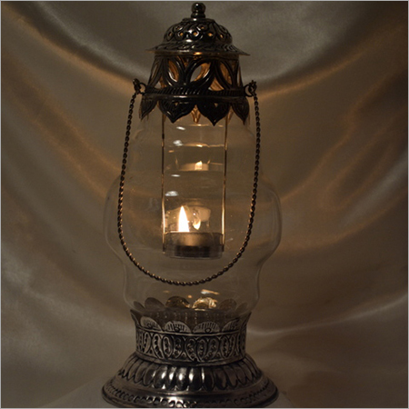 Decorated Glass Lantern