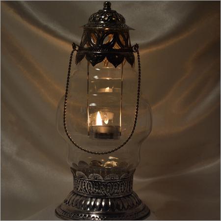 Decorated Glass Lantern