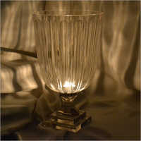 Crystal Glass Hurricane Candle Holder