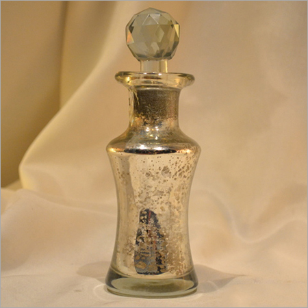 Glass Silver Perfume Bottle With Stopper