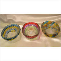 Galss Decorated Bowls