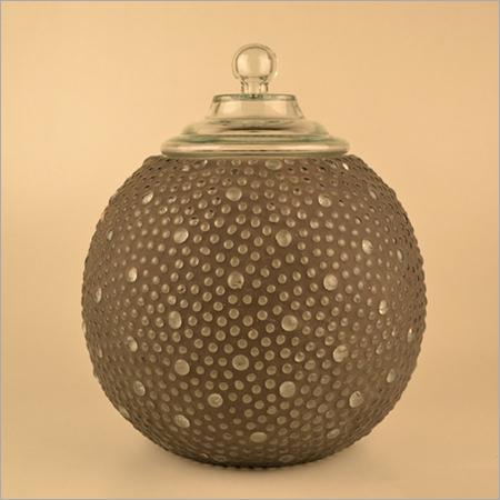 Mosaic Glass Jar With Lid