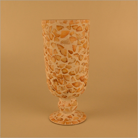 Mother Of Pearls Finish Glass Flower Vase