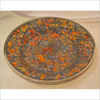Decorated Glass Dinner Plates