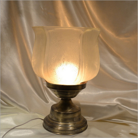 Frosted Glass Metal Base Table Lamp