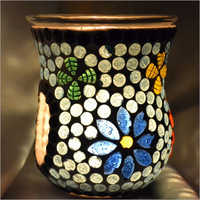 GLASS MOSAIC CANDLE AROMA OIL BURNER