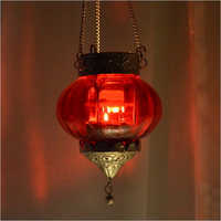 Colorful Glass T Light Candle Hanging