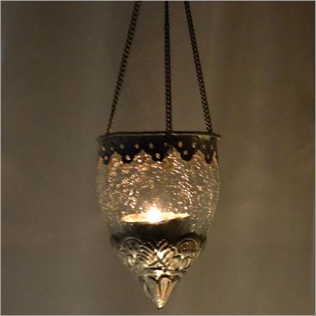 CREAK GLASS T LIGHT HANGING