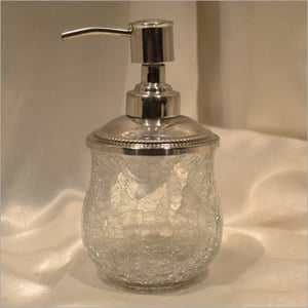 Creak Glass Clear Bathroom Soap Dispenser