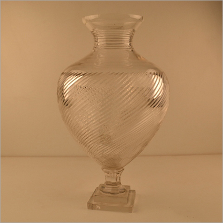 Antique Crystal Cutting Flower Vase