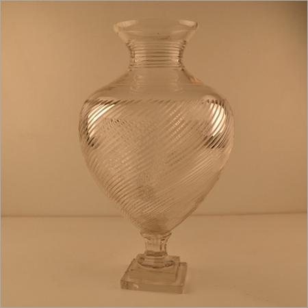 Antique Crystal Cutting Flower Vase