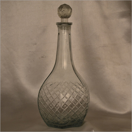 Clear Cutting Glass perfume Bottle Decanter