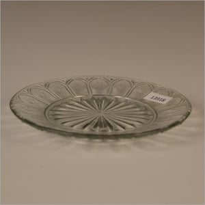 Clear Glass Plate Round Shaped