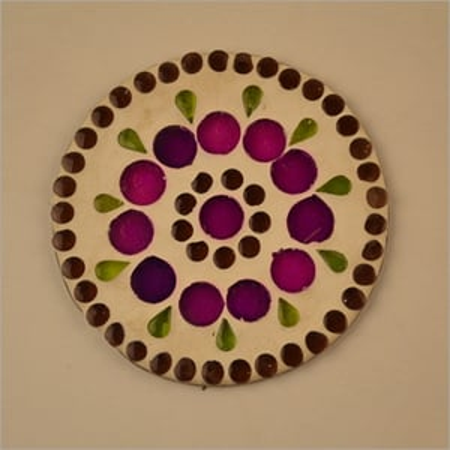 Glass Mosaic Round Coaster