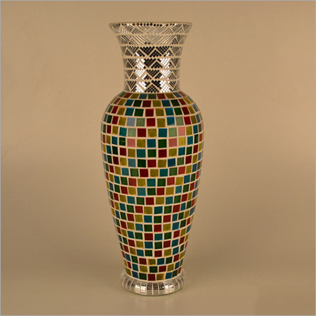Glass Mosaic Modern Flower Vase