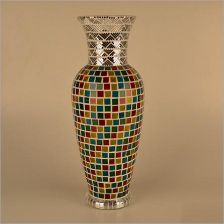 Glass Mosaic Modern Flower Vase