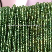Green Apatite Faceted Rondelle Gemstone Beads for Jewelry Making