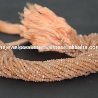 Natural AAA Peach Moonstone Faceted Rondelle Beads Beading
