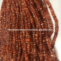 Natural Sunstone Faceted Rondelle Gemstone Bead Strands 4 to 6mm