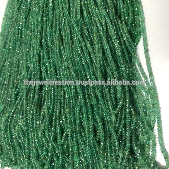 Natural Zambian Emerald Deal Faceted Rondelle Beads 2 to 4mm