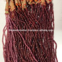 Natural Red Spinel Gemstone Faceted Rondelle Beads 2 to 4mm