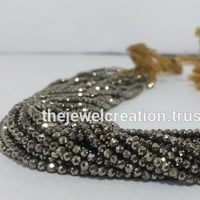 Natural Pyrite Faceted Rondelle Beads Micro Bead