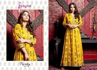Fancy Gown Style Printed Kurtis