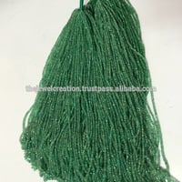 100% Natural Emerald Stone Faceted Rondelle Beads Lot 2 to 4mm