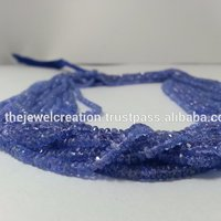 AAA Natural Watery Tanzanite Gemstone Bead For Jewelry Making