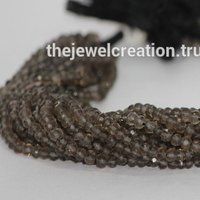 Natural Smoky Quartz Faceted Rondelle Beads Jaipur