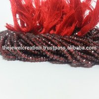 Natural Red Garnet Stone Faceted Beads