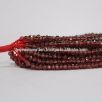 Natural Red Garnet Stone Faceted Beads Mozambique
