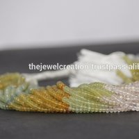 Natural Multi Beryl Plain Rondelle Gemstone Beads