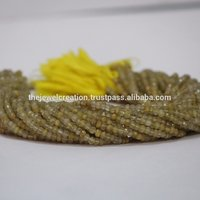 Natural 4mm Golden Rutile Faceted Beads Rutiliated Gemstone Beads