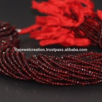 AAA Mozambique Red Garnet Faceted Beads Strand
