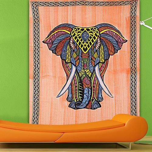 Elephant Printed Single Wall Hangings Indian 100 Cotton Mandala