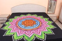 Star Mandala Indian Cotton Multi Color Ombre Handmade Hand Printed Wall Decor Tapestry