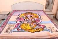 Lord Ganesha Indian Traditional Religious 100% Cotton Printed Wall Hangings Wall Home Decor Tapestry