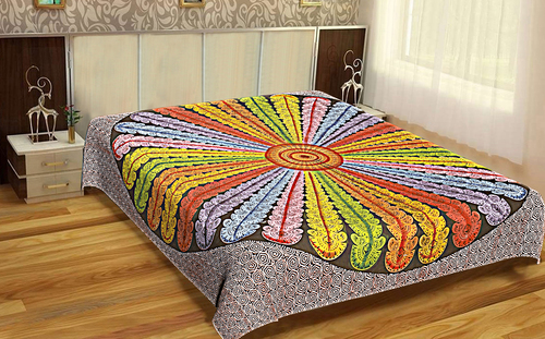 Home Textile Floral Indian 100% Cotton Mandala Printed Bedspread Bed Sheet Wall Hangings Tapestry