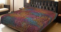 Ombre Mandala Multi color Indian Cotton Tie & Dye Wall Hangings Bed sheet Bedspread Home Decor Tapestry