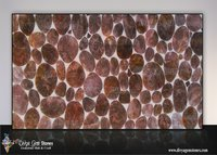 Rounded Smoky Quartz Stone Slab