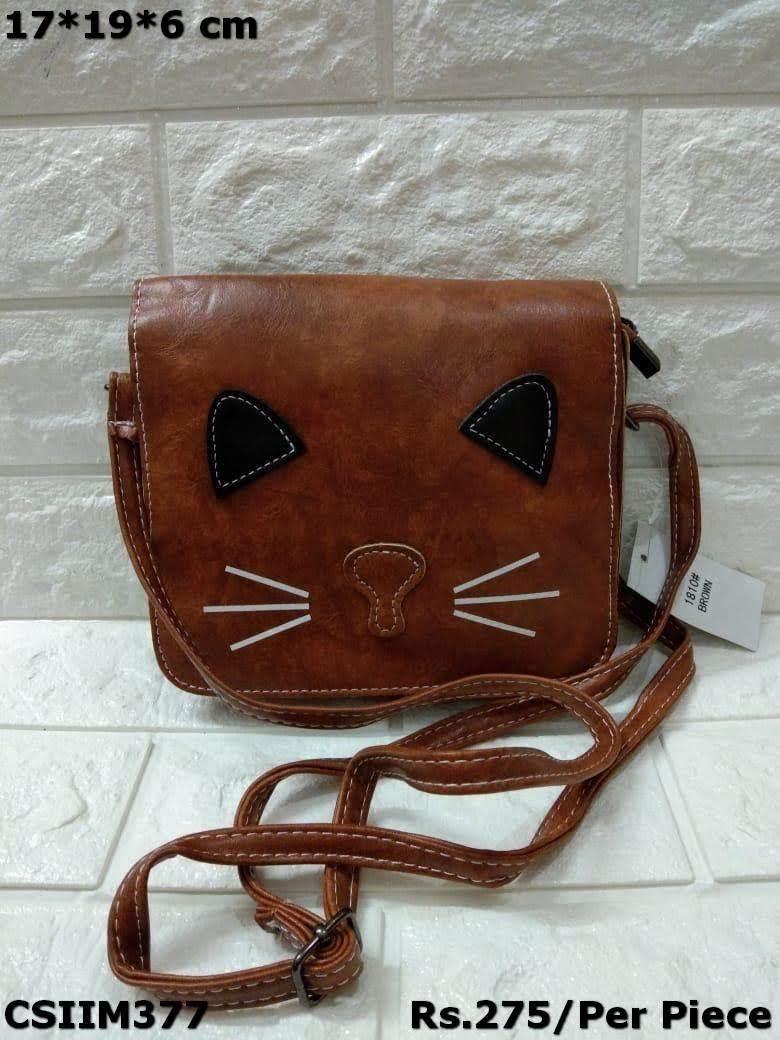PU Cat style Sling bag