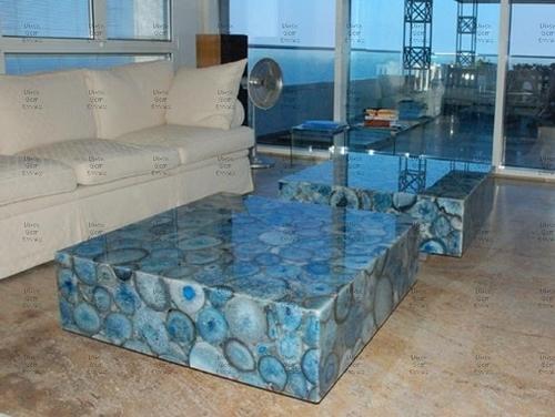 Blue Agate Center Table Set