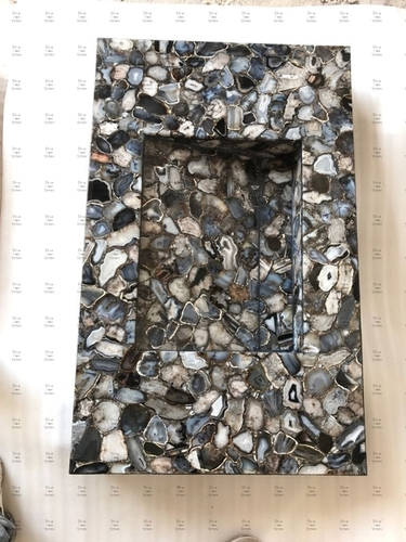 Black Agate Counter Wash Basin