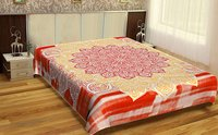 Dual Color Beautifully Crafted Vintage Look Indian 100% Cotton Fabric Mandala Printed Bed sheet Bedspread Handmade Tapestry