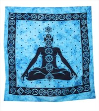 Buddha Serenity Spiritual Hippie Indian Cotton Cotton Fabric Printed Wall Decor Wall Hangings Bedsheet Bedspread Tapestry