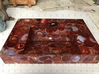 Red Carnelian Counter Wash Basin