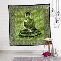 Printed Wall Decor Bedspread Bed Sheet Home Decor Indian 100% Cotton Buddha Peace Serenity Tapestry